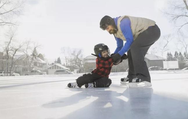 آموزش اسکیت روی یخ